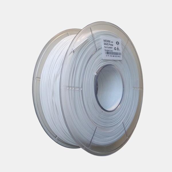 فیلامنت PLA سفید ساده قطر ۱.۷۵ میلی متر