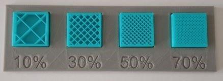 مقدار اینفیل در پرینت سه بعدی