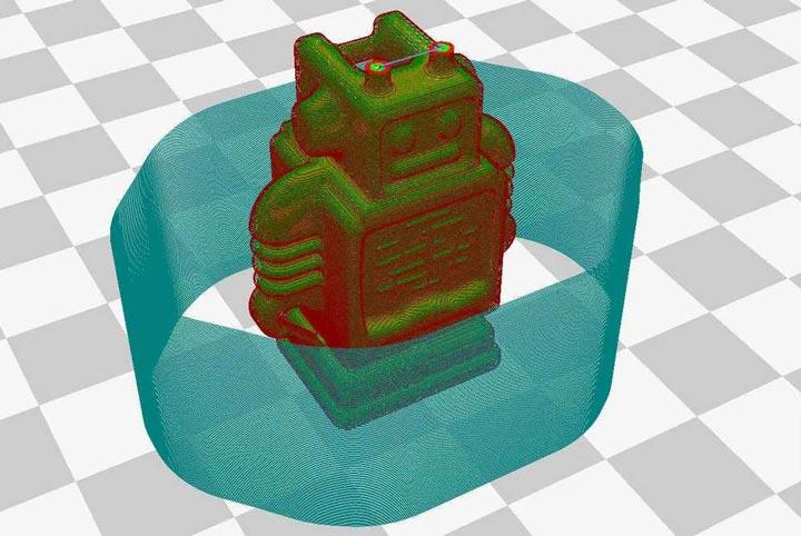 چسبندگی قطعه به بستر چاپی در پرینت سه بعدی