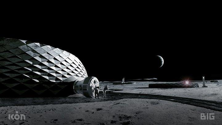 پرینت سه بعدی بر روی کره ی ماه