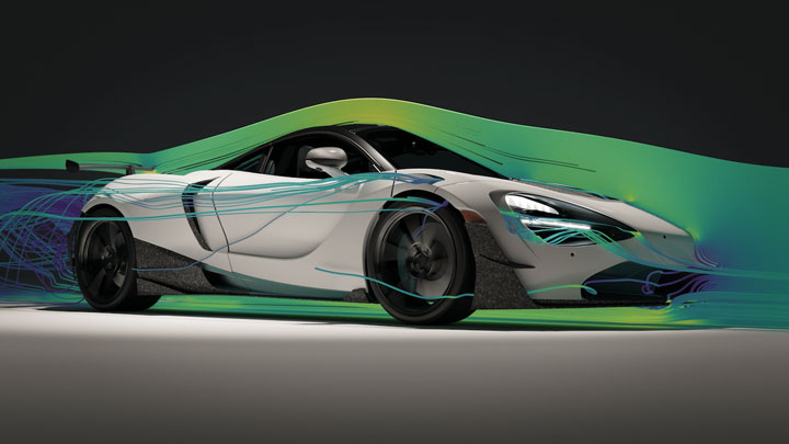 پرینت سه بعدی بادی کیت ماشین McLaren 720S Spider supercar