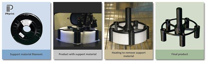 متریال ساپورت برای پرینت سه بعدی PP