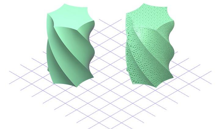 نرم افزار تولید ساختارهای شبکه ای پرینت سه بعدی