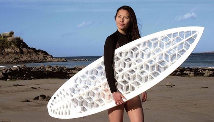 بهترین کاربردهای پرینت سه بعدی در ورزش-تخته ی موج سواری