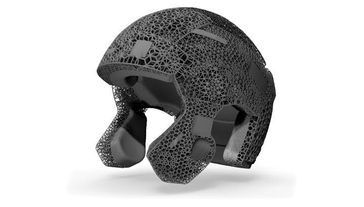 بهترین کاربردهای پرینت سه بعدی در ورزش-کلاه ایمنی