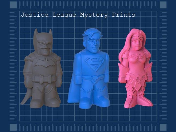 "مجموعه ""justice league mystery box"""