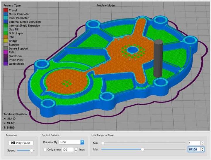 قابلیت شبیه سازی در Simplify3D