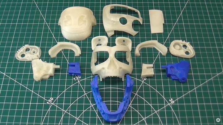 قطعات ساخته شده با ریخته گری PLA