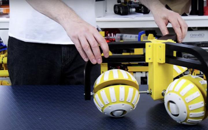 چرخ های توپی پرینت سه بعدی