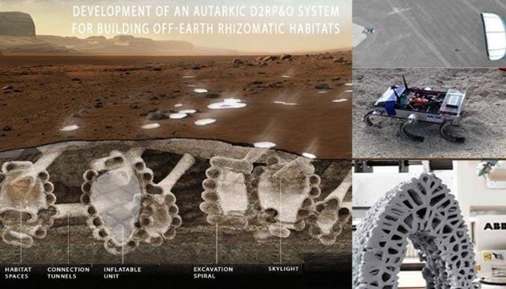 ربات های Zebro و پرینت سه بعدی در استعمار مریخ