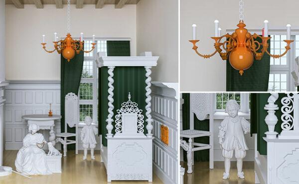 اشیای پرینت سه بعدی Jakub Pastuszak در موزه ی Amber