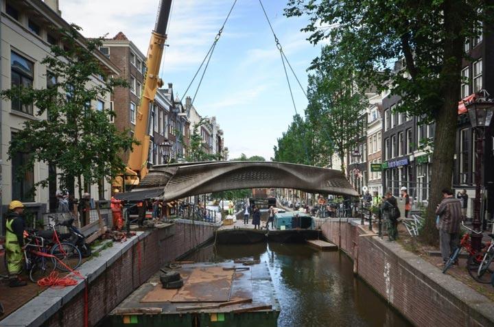 پل های پرینت سه بعدی-پل فولادی هلند
