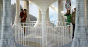 ساختمان فرهنگی بتنی پرینت سه بعدی مؤسسه ی ETH