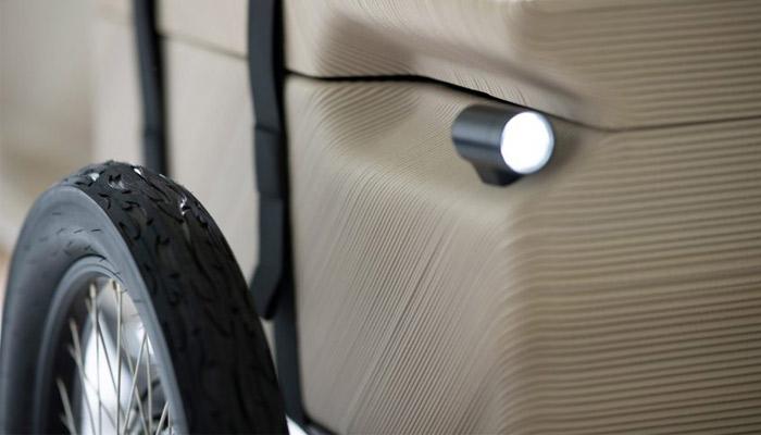 سه چرخه ی برقی پرینت سه بعدی بازیافتی EOOS