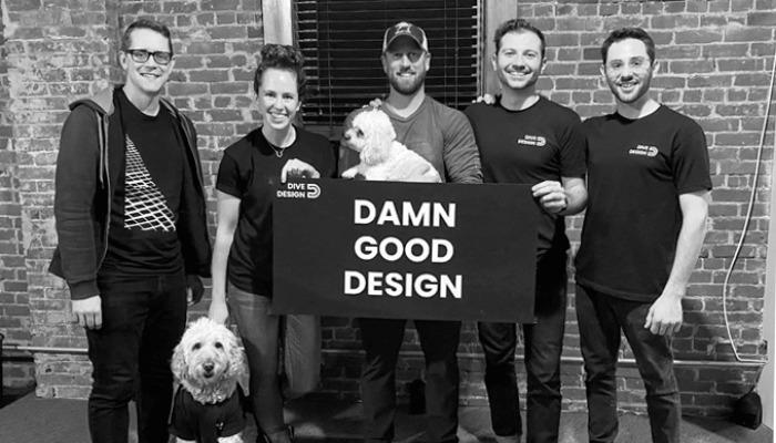 تیم DiveDesign و Adam Hecht در سمت راست