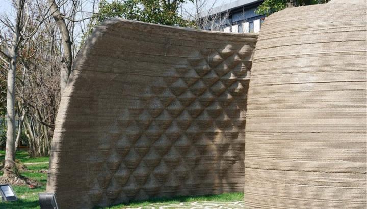 بافت دیوار ورودی سازه