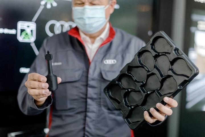 Audi از پسماندهای بسته بندی هایش برای پرینت سه بعدی قطعات جدید استفاده می کند