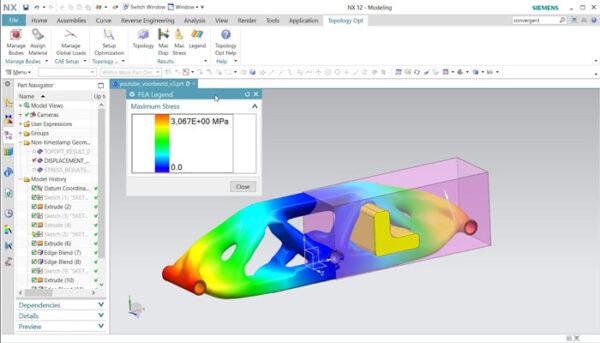 نرم افزارهای بهینه سازی توپوبوژیکی پرینت سه بعدی-Siemens NX